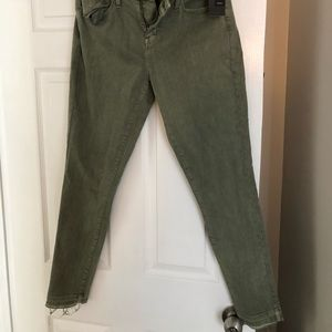 Mossimo olive distressed jeans